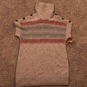 NWT Ruff Hewn Turtleneck Short Sleeve Wool Sweate